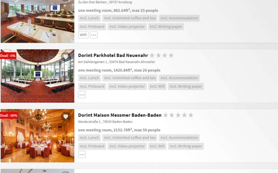 Multi-property booking engine for hotel chains