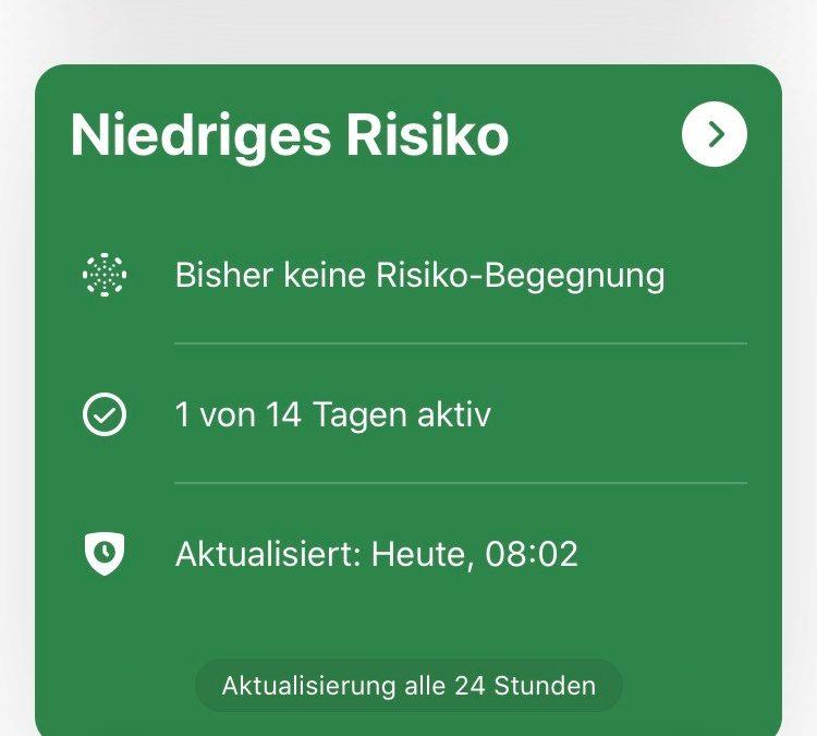 Meeting Teilnehmer sollten die Corona-Warn-App installieren